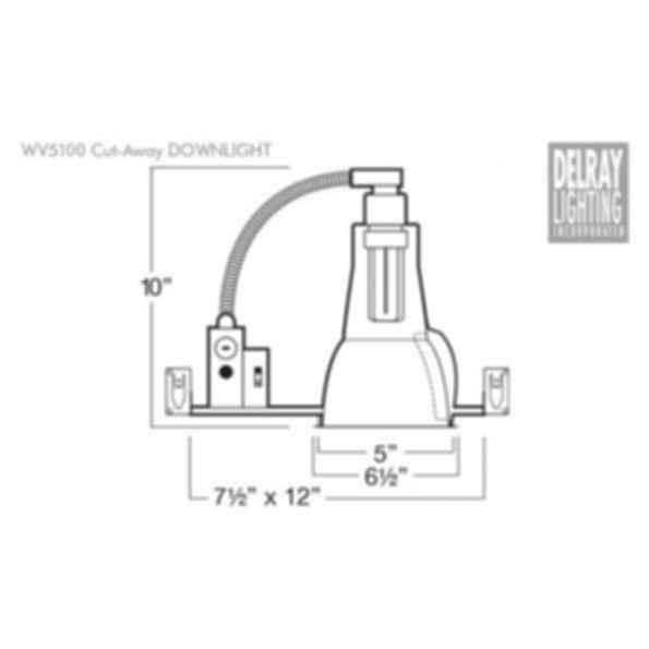 WV5100 Vertical Downlight by Delray Lighting