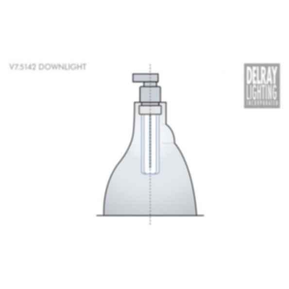 V7.5142 Vertical Downlight by Delray Lighting