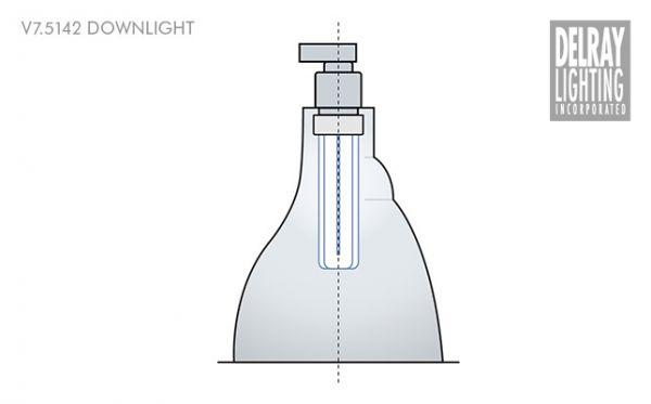 V7 5142 Vertical Downlight By Delray Lighting Modlar Com
