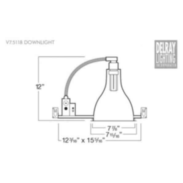 V7.5118 Vertical Downlight by Delray Lighting