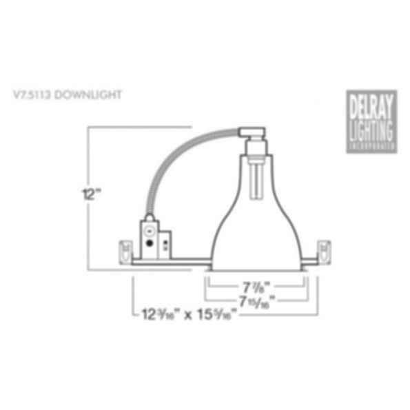 V7.5113 Vertical Downlight by Delray Lighting