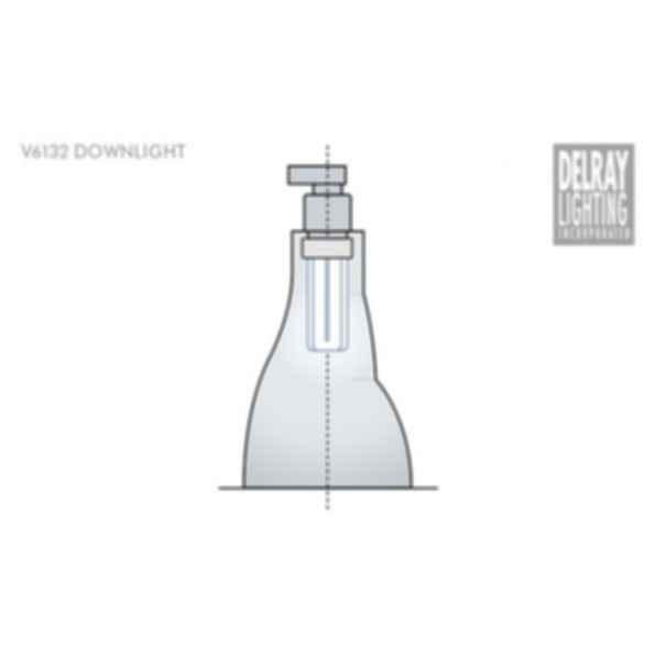 V6132 Vertical Downlight by Delray Lighting