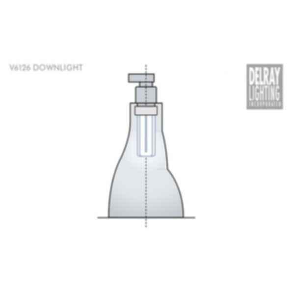 V6126 Vertical Downlight by Delray Lighting