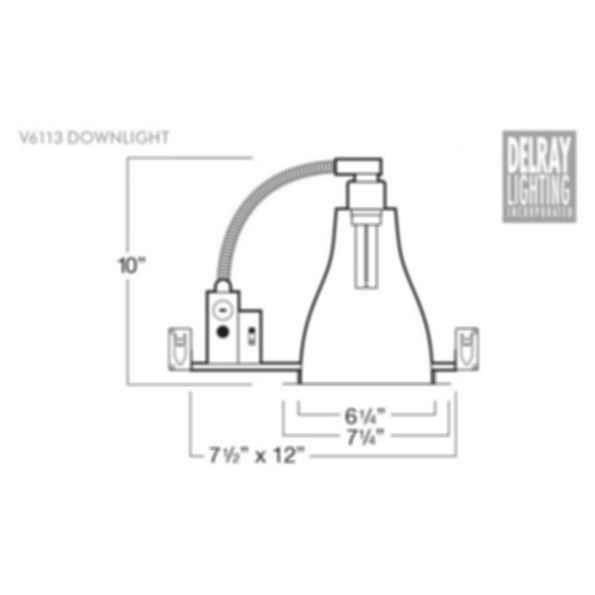 V6113 Vertical Downlight by Delray Lighting