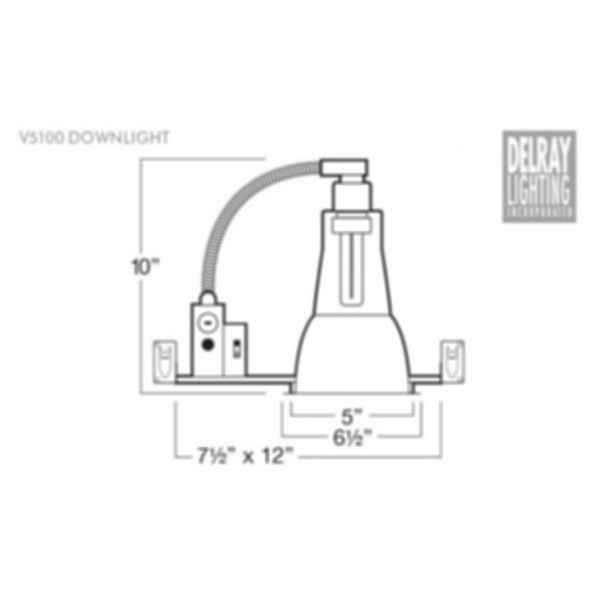 V5100 Vertical Downlight by Delray Lighting