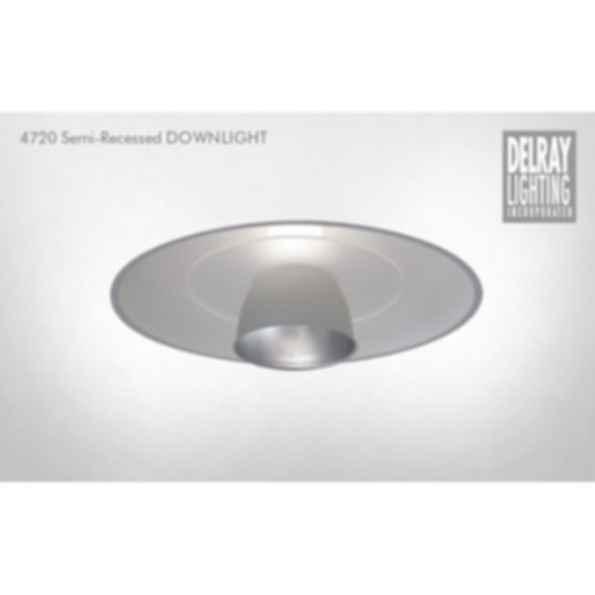 4720 Semi-Recessed Downlight by Delray Lighting