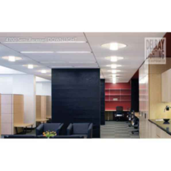 4700 Semi-Recessed Downlight by Delray Lighting