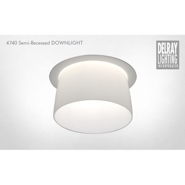 4740 semi recessed downlight by delray lighting modlar 4740 semi recessed downlight by delray lighting aloadofball Images