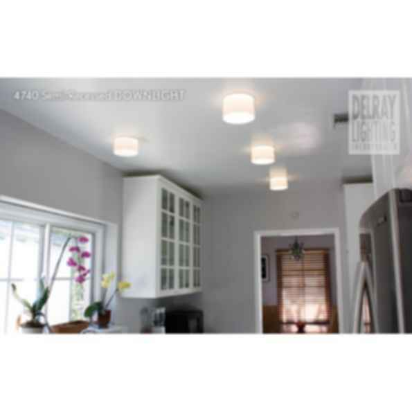 4740 Semi-Recessed Downlight by Delray Lighting