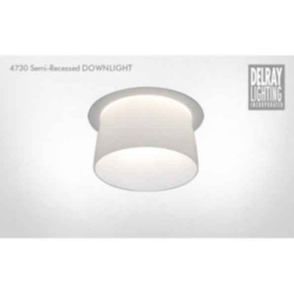 4730 Semi-Recessed Downlight by Delray Lighting