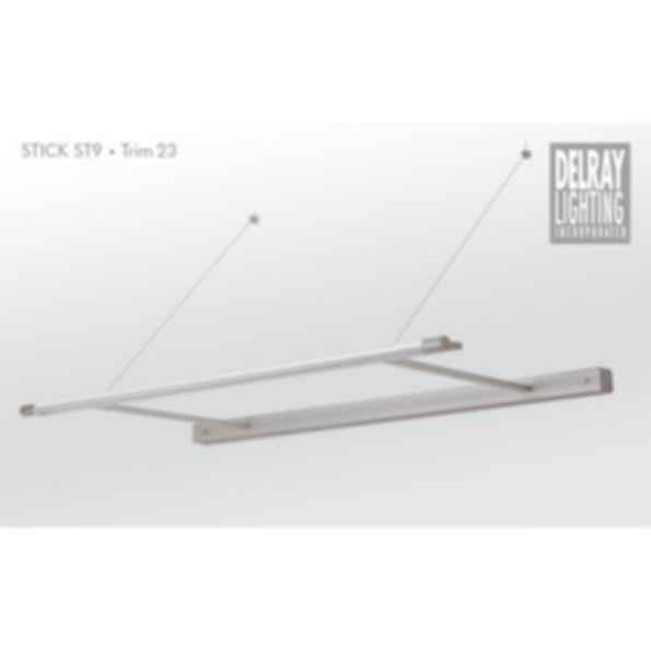 Stick ST9 Cantilever, Trim 23, by Delray Lighting