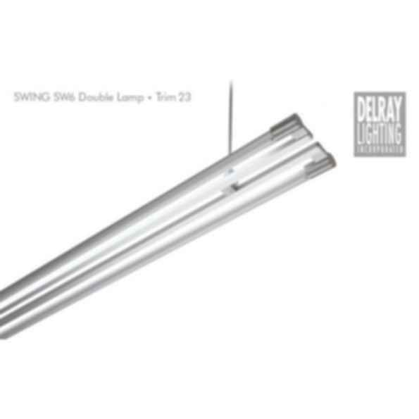 Swing SW62/SW72 Double Lamp, Trim 23, by Delray Lighting