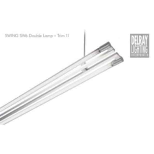 Swing SW62/SW72 Double Lamp, Trim 11, by Delray Lighting