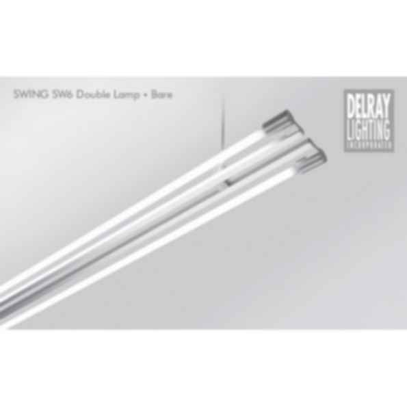 Swing SW62/SW72 Dual Lamp, Bare, by Delray Lighting