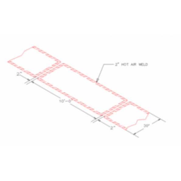Flex walkway pad for Flexible roofing material