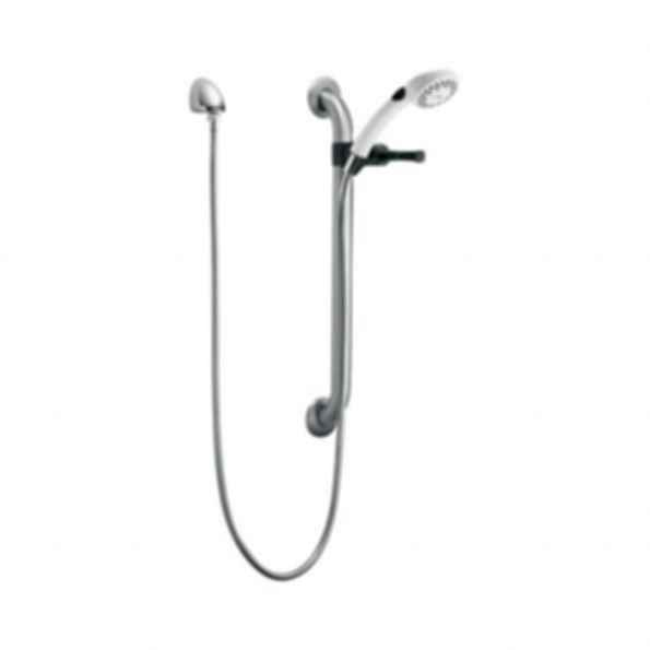 Single Function Hand Shower with Grab Bar and Elbow