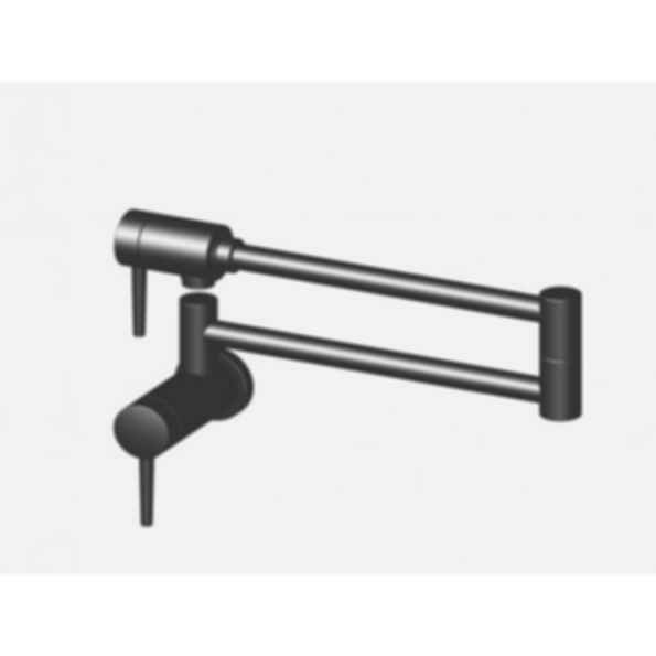 Contemporary Pot Filler Wall mount arctic stainless