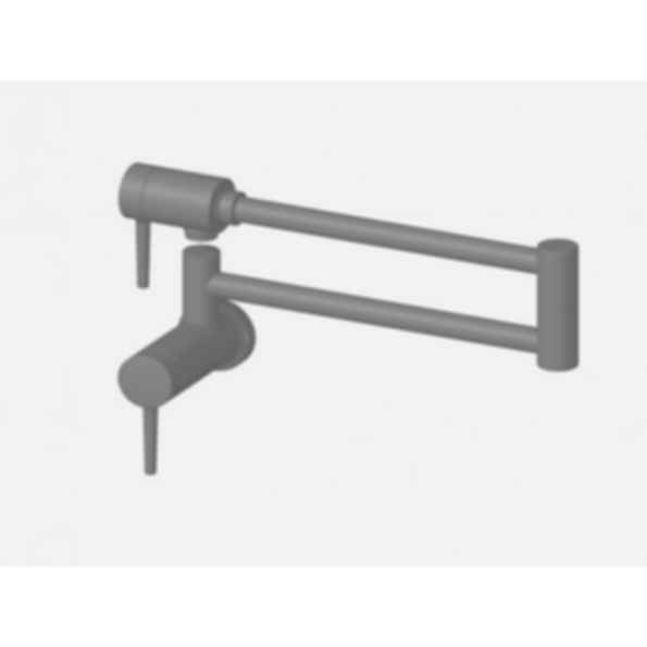 Contemporary Pot Filler Wall Mount Stainless Steel
