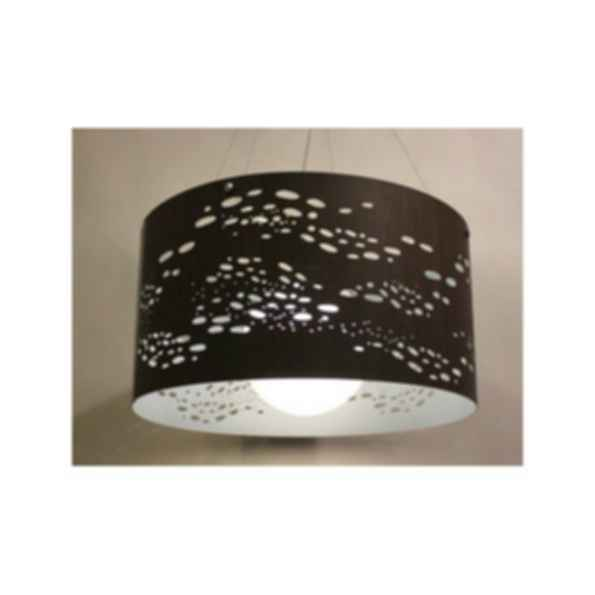 Indirect light pendant lamp beachstone satellite