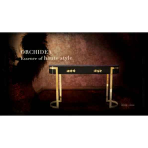 Orchidea Lacquered Console Table with Drawers
