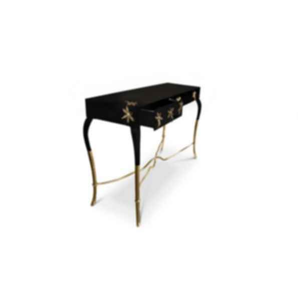 Luridae Lacquered Rectangular Console Table with Drawers