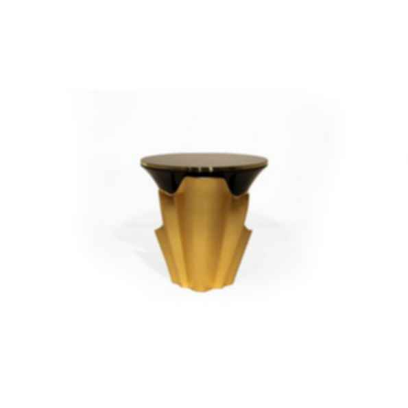 Yasmine Lacquered Round Side Table
