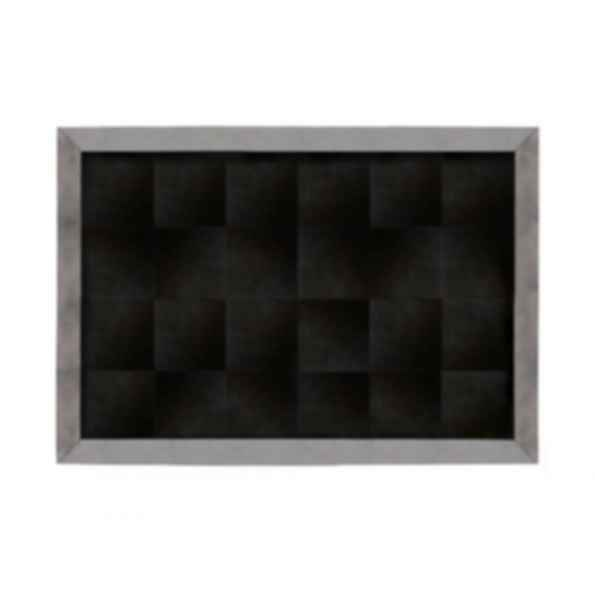 Rectangular Cow hide rug METALLIC PEWTER
