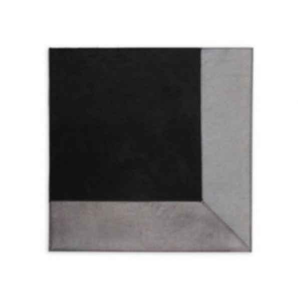 Rectangular Cow hide rug METALLIC PEWTER