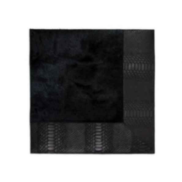 Rectangular Cow hide rug BLACK COBRA