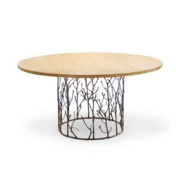 Enchanted Round Wood Veneer Dining Table