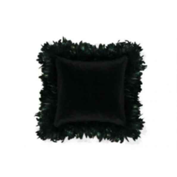 Square velvet cushion EXOTICA FEATHER