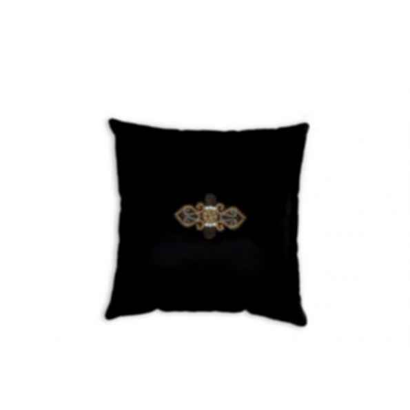 Square velvet cushion BLACK JEWEL