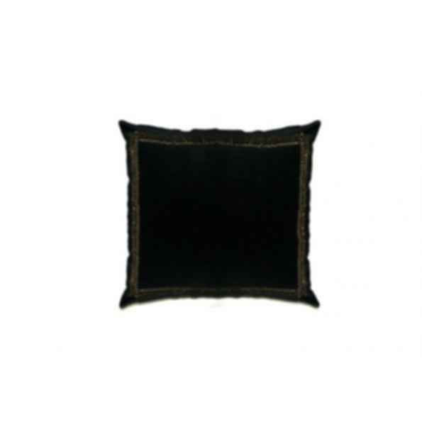Square velvet cushion BLACK GOLDBAND