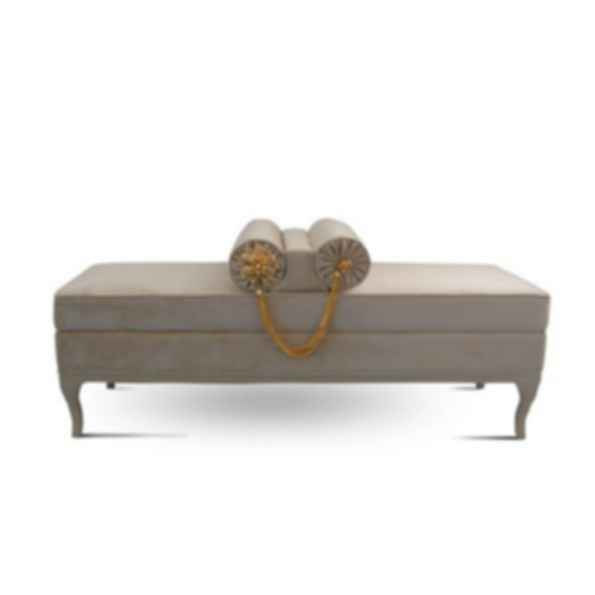 LE-LE Upholstered Velvet Bench