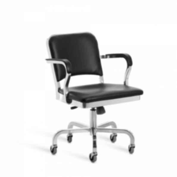 Navy® Upholstered Swivel Armchair