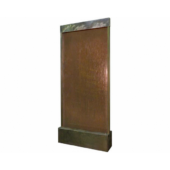 Water Feature - Patina Copper with Copper Sheet