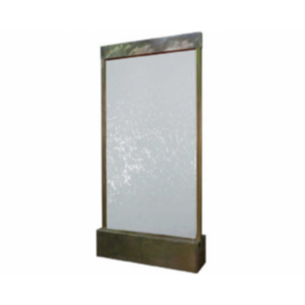 Water Feature - Patina Copper with Clear Tempered Glass