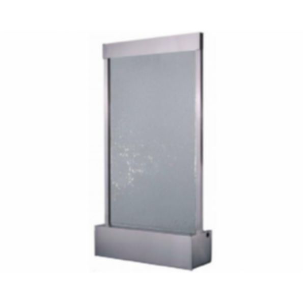 Water Feature - Stainless Steel with Clear Tempered Glass