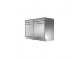 Stainless Cabinetry - Hinged Double Door/Double Drawer Base Unit