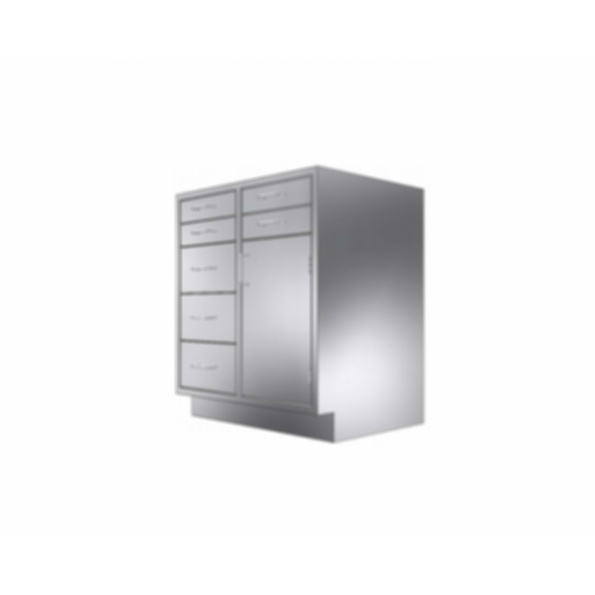 Stainless Cabinetry - Drawer/Door Base Unit - 7 drawers and single door