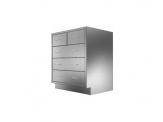Stainless Cabinetry - Combo Drawer Base Unit - 5 drawers