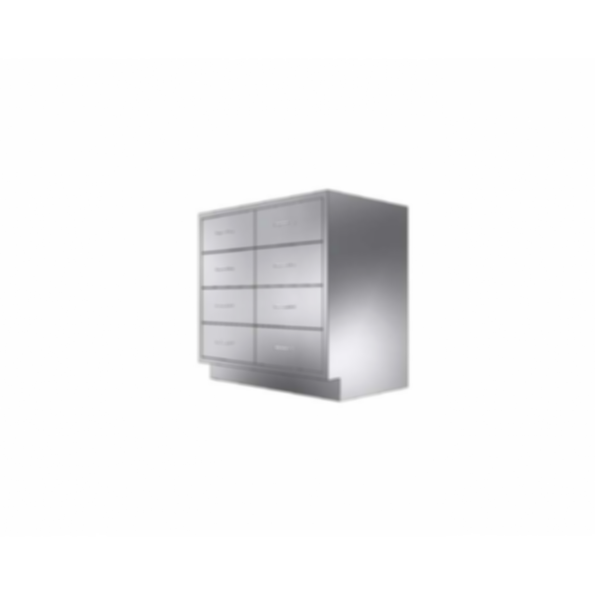 Stainless Cabinetry - Combo Drawer Base Unit - 8 drawers