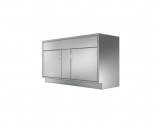 Stainless Cabinetry - Sink Double Door Base Unit - Flush front panel above
