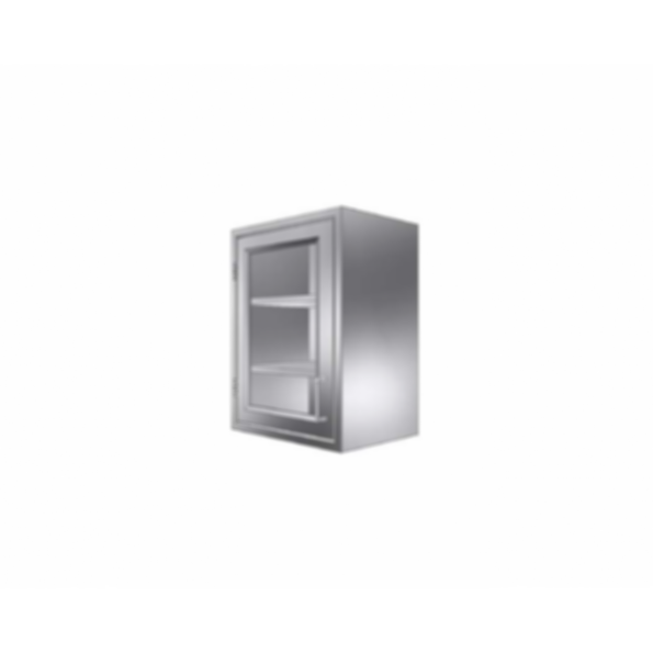 Stainless Cabinetry - Framed Glass Hinged Door Wall Unit