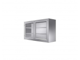 Stainless Cabinetry - Framed Glass Hinged Double Door Wall Unit