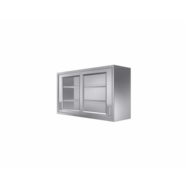 Stainless Cabinetry - Framed Glass Sliding Door Wall Unit