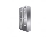 Stainless Cabinetry - Framed Glass Hinged Door Tall Unit - Double door