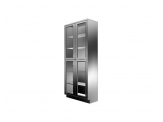Stainless Cabinetry - Framed Glass Hinged Door Tall Unit - 4 doors