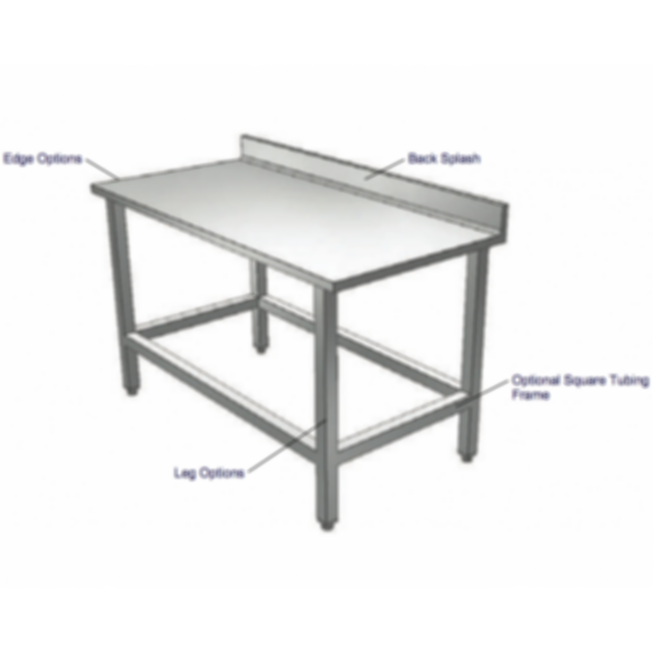 Stainless Cabinetry - Work Table - Wall