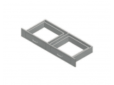Stainless Cabinetry - Knee Space Drawer - Double drawer